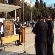 Тихвинская Ополченная икона Богородицы в бригаде морской пехоты