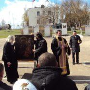 Тихвинская Ополченная икона Богородицы в войсковой части особого назначения в г. Севастополе